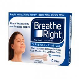 Breathe Right Clásica 10 Tiras Grandes
