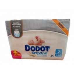 Dodot Sensitive 3-6Kg T2 34uds