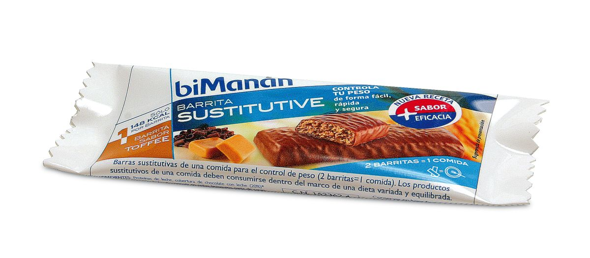 Bimanan Sustitutive Barritas Toffee 24 uds