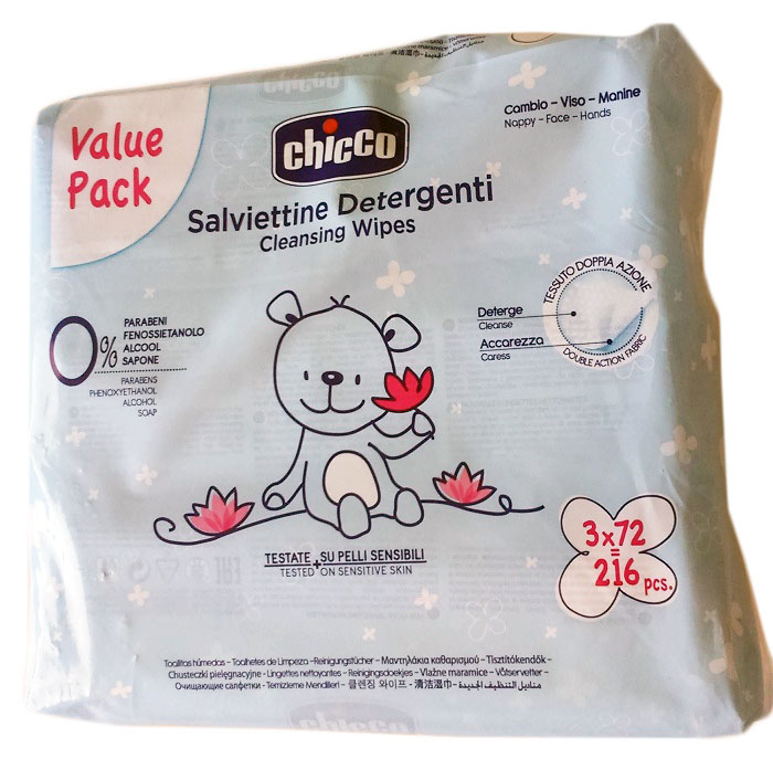 Chicco Tripack Toallitas 3X72 uds